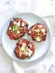 Gevulde Portobello van de BBQ (vegetarisch recept)