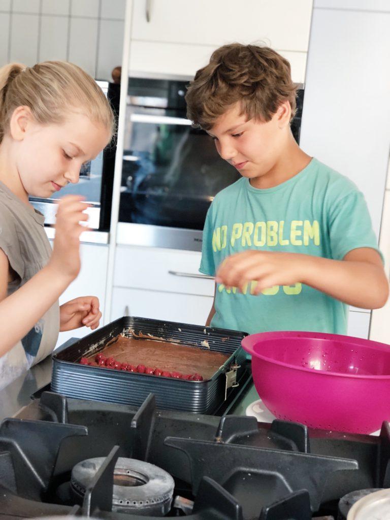Recept donauwelle taart maken, made by ellen