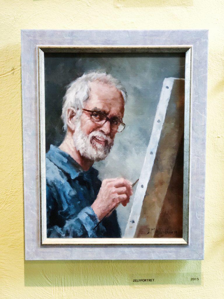 Schilder Marius van Dokkum, made by ellen
