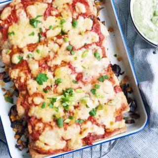 Vega enchiladas met groente en kaas, made by ellen