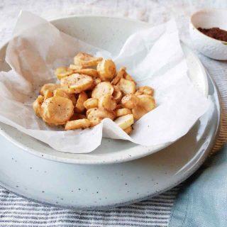 Aardpeer recept: aardpeer chips met sumak kruiden, made by ellen