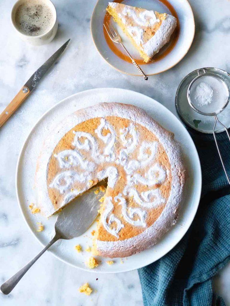 Citroencake met pistache
