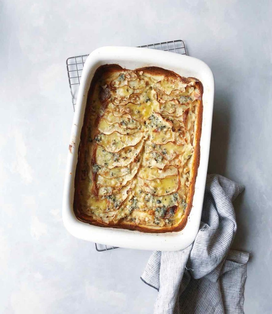 Knolselderijgratin met blue stilton kaas en noten made by ellen