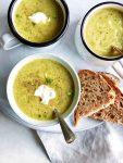 Groene soep snel voor doordeweeks