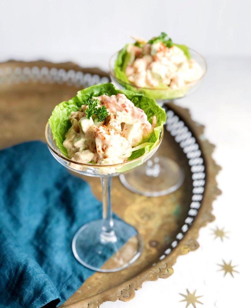 Rivierkreeftjes cocktail met venkel en avocado