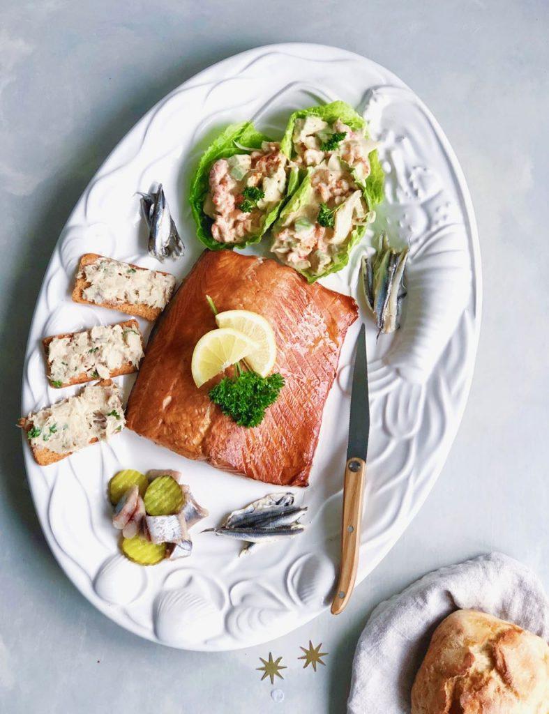 Visschaal opmaken voor het (vis)buffet