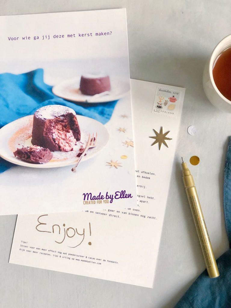 Wil jij deze kerstkaart met recept ontvangen deze kerst? made by ellen