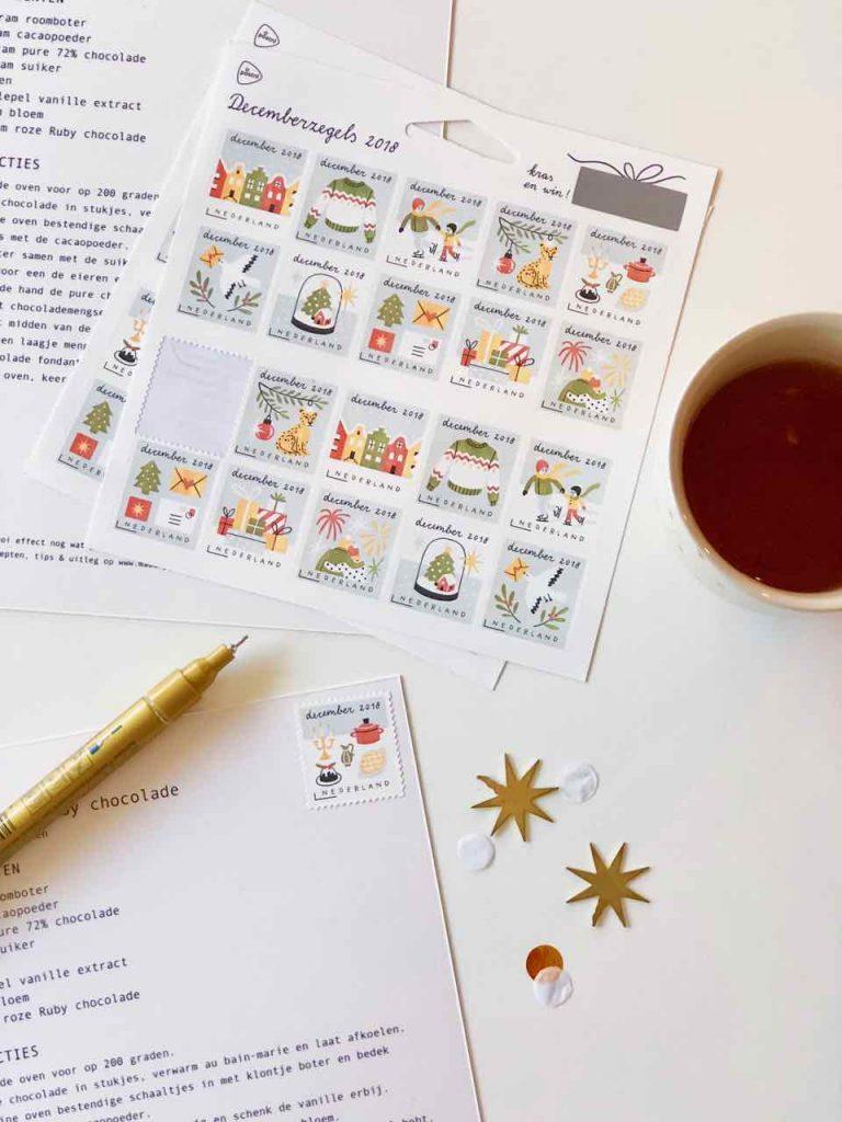 Decemberzegels postnl made by ellen