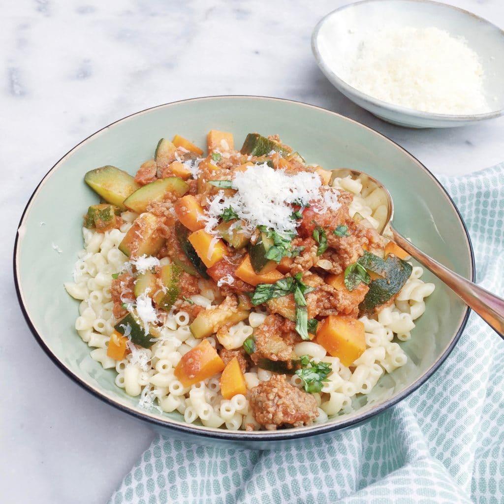 recept macaroni met groenten