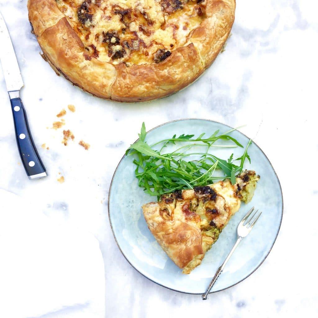 Wat eten we vandaag? Hartige taart met broccoli
