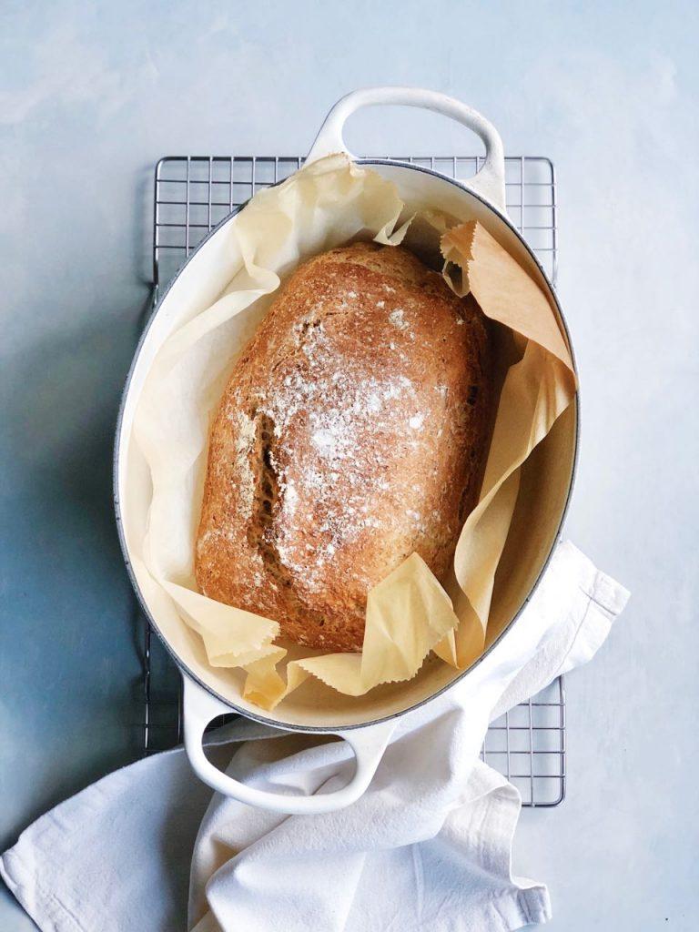 brood bakken in pan, made by ellen