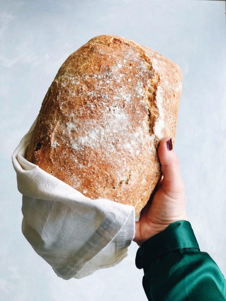 Gebakken brood uit pan