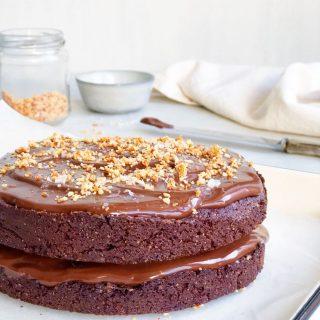 Goddelijke chocoladetaart met ganache en zeezout