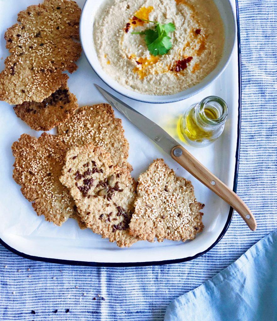Recept voor havermout crackers maken.