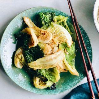 Savooiekool wokken, made by ellen