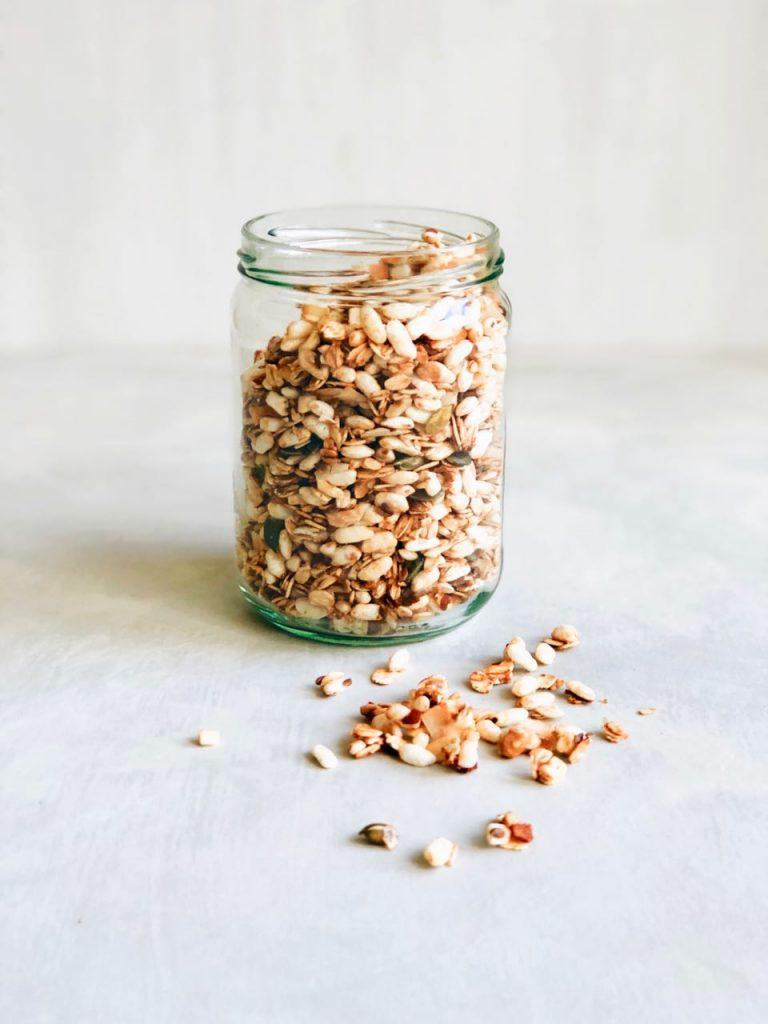 Granola met gepofte rijst