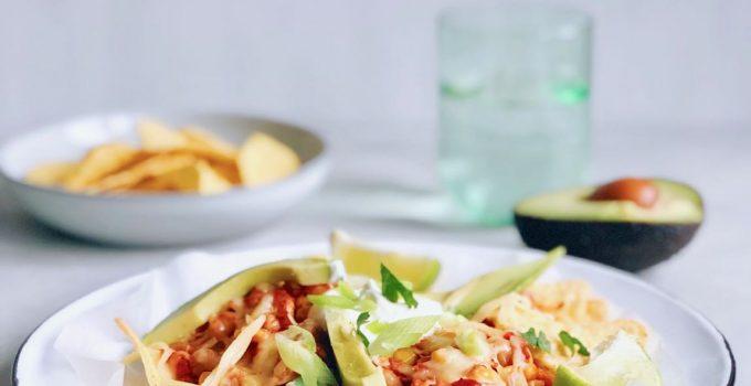 Vegetarische nacho ovenschotel met groente