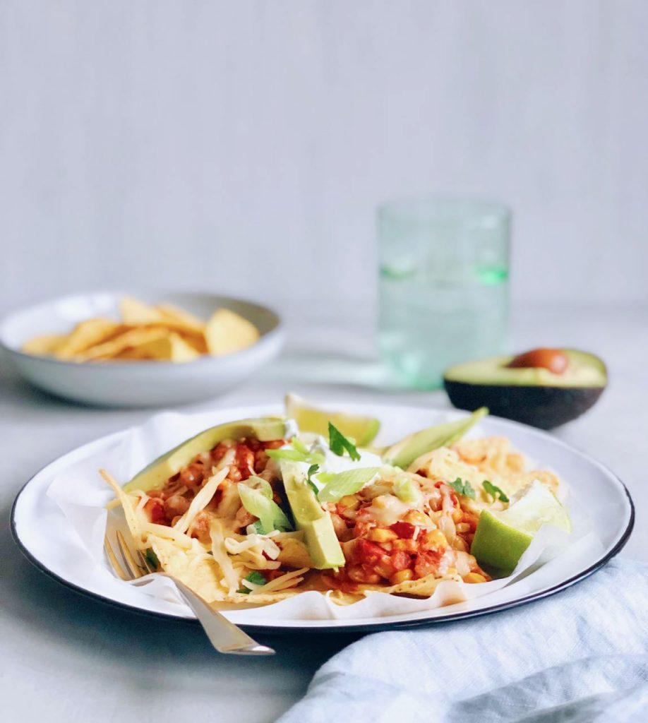 Vegetarische nacho ovenschotel met groente, made by ellen