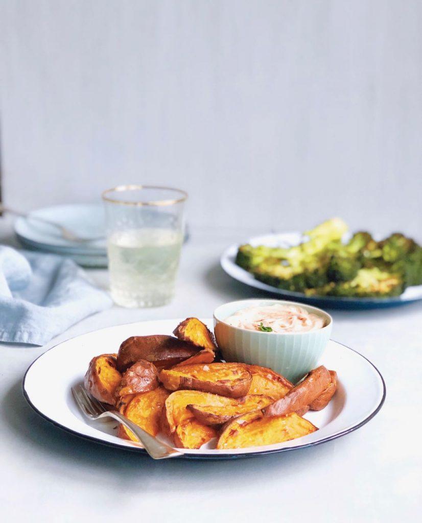 Zoete aardappel bakken in de oven, made by ellen