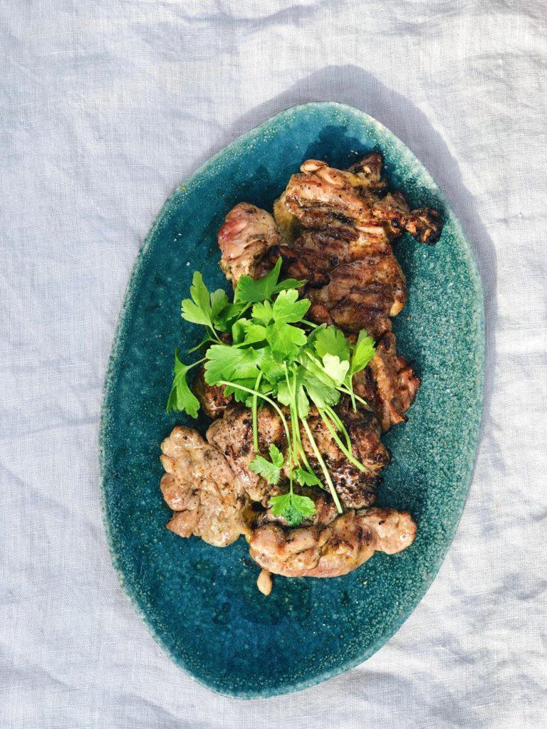 Kipschnitzel grillen op de BBQ