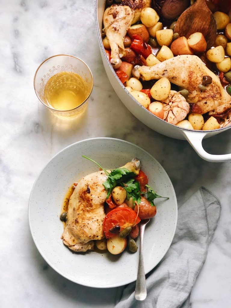 Recept voor kippenbout met groenten uit de oven