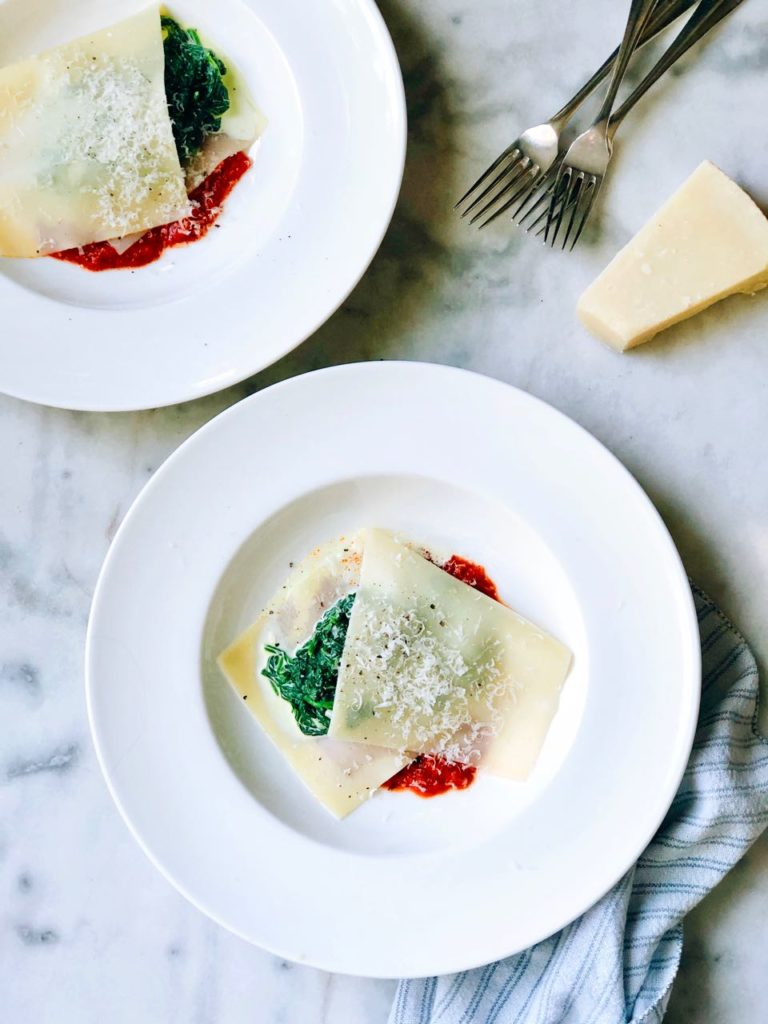 Zomerse lasagne spinazie recept