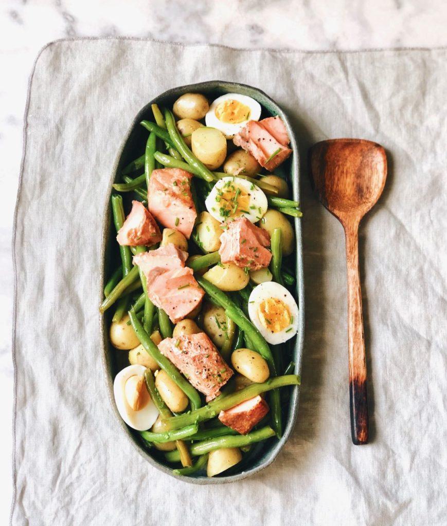 Salade Nicoise met zalm