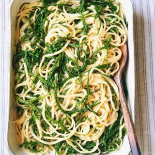 Zeekraal recept met pasta en citroen maken