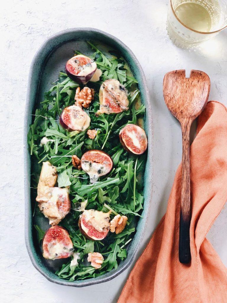 Vijg met blauwe kaas uit de oven, made by ellen
