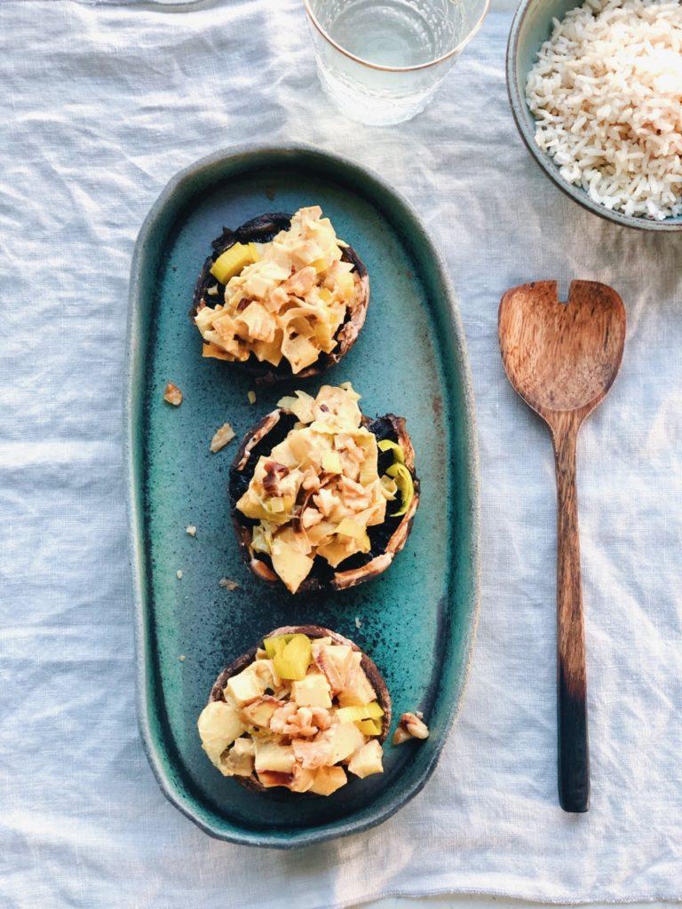 Recept, portobelle, groente, vega, oven