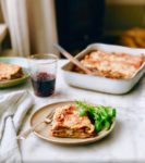 recept, vega, pasta, vegetarisch, maaltijd, diner, made by ellen, aubergine, tomatensaus, Hollandse kaas