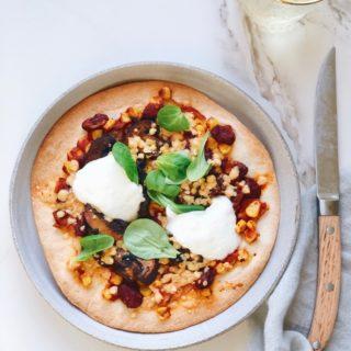 Recept gezonde tortilla pizza