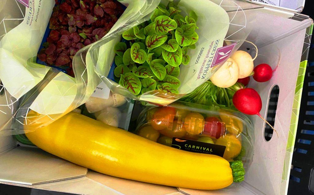 Restaurant groente box rungis, koppert cress en albert-heijn