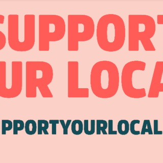 support your locals, made by ellen