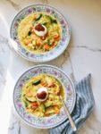 Crisis koken: verse groentesoep met vermicelli en ei