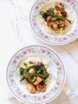Koken met restjes zalm en groente