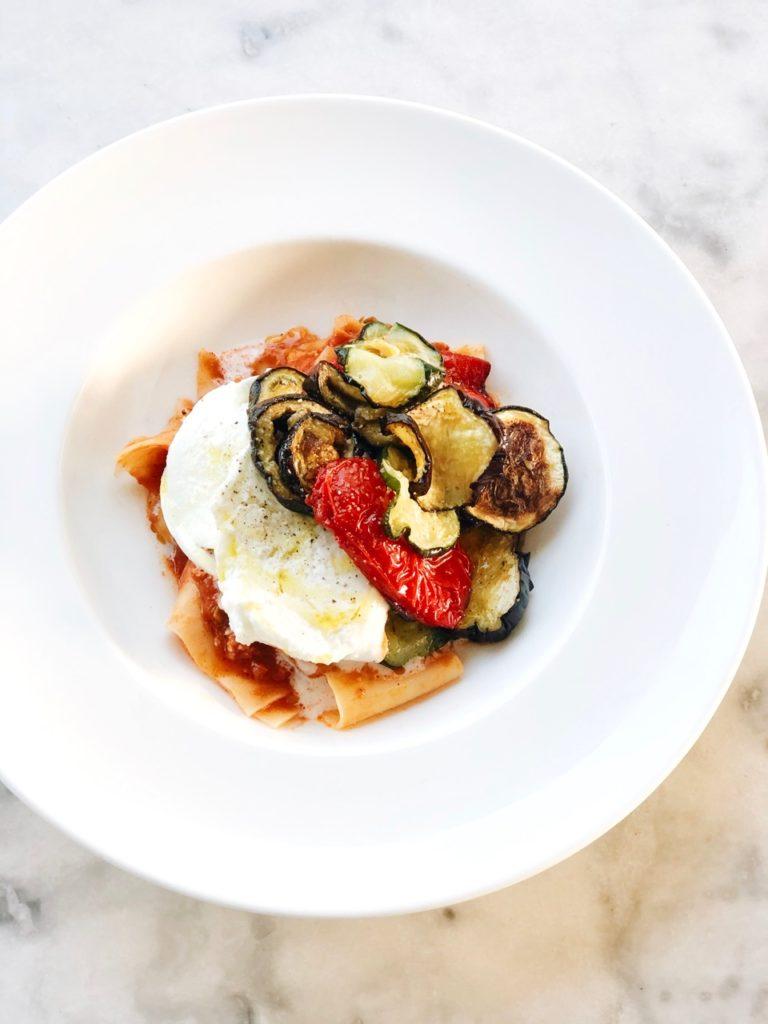 Vegetarische pan lasagne