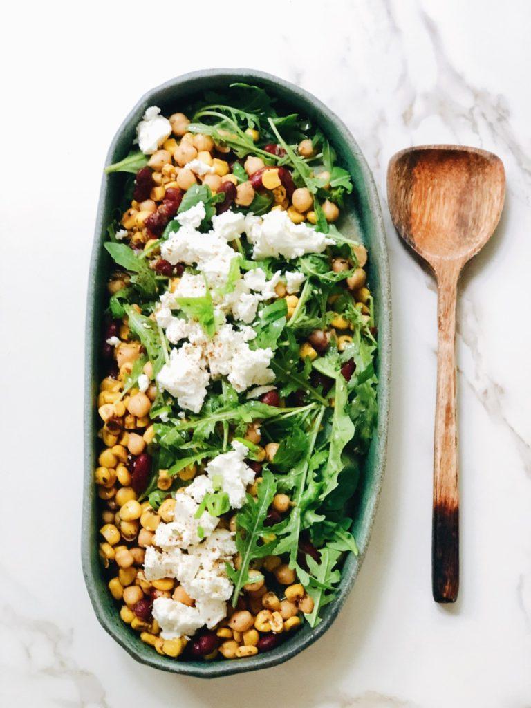 Pittige salade met feta en Libanese za'atar kruiden