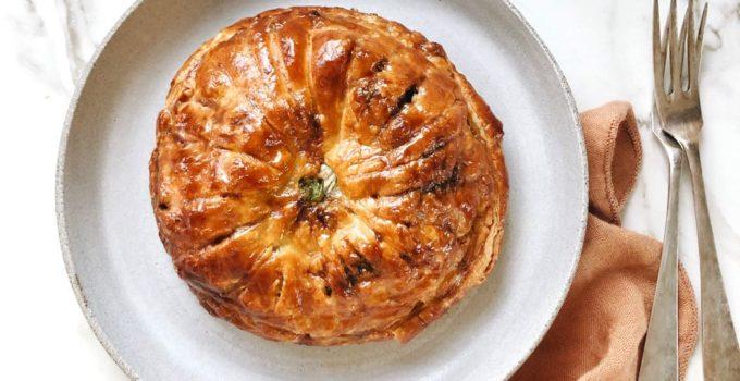 Pithiviers recept voor vegetarisch hartig taartje